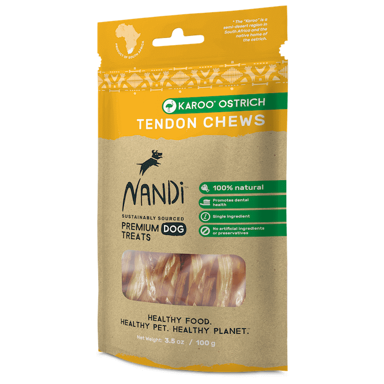 Nandi - Dog Chew Treats - Karoo Ostrich Tendon - 100G - PetProject.HK