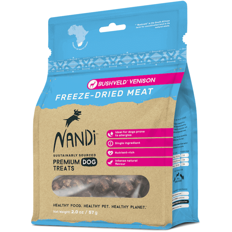 Nandi - Freeze-Dried Treats - Bushveld Venison - 57G