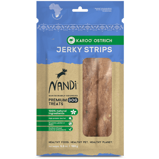Nandi - Jerky Dog Treats - Karoo Ostrich - 150G - PetProject.HK