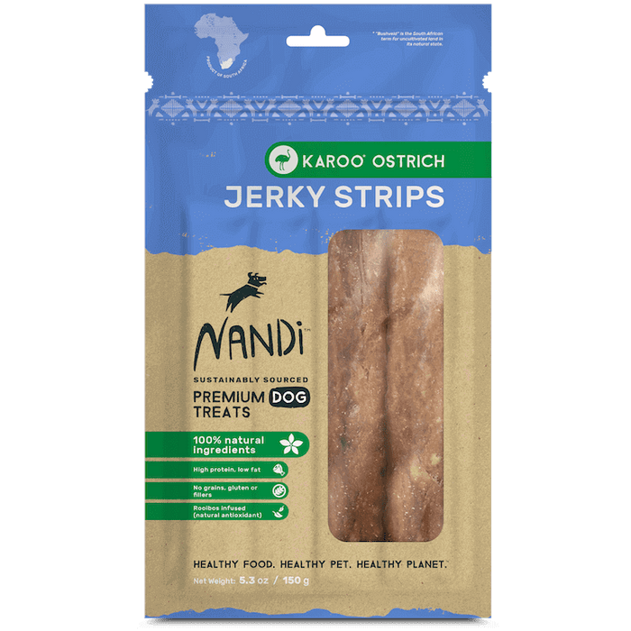 Nandi - Jerky Dog Treats - Karoo Ostrich - 150G