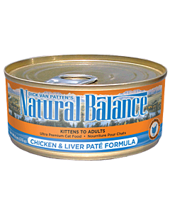Natural Balance - Cat Chicken & Liver Pate Canned - 5.5oz - PetProject.HK