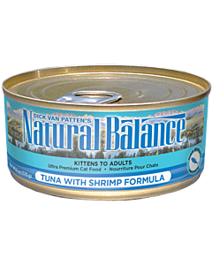 PetProject.HK: Natural Balance - Cat Tuna W/ Shrimp Formula Canned - 5.5oz