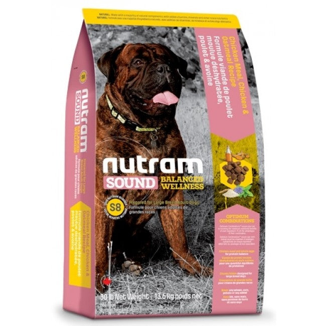Nutram - S8 Nutram Sound Balanced Wellness - Large Breed Adult - 13.6KG - PetProject.HK