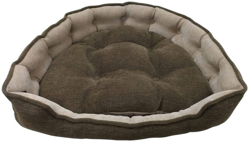 "One for Pets - Adela Snuggle Bed - Coffee - 25"" x 21"" x 6""(L) - PetProject.HK"