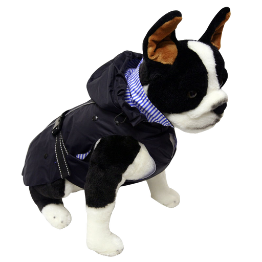"One for Pets - All-Weather Dog Coat with Removable Fleece - Navy - 12"" - PetProject.HK"