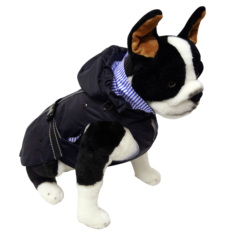 "One for Pets - All-Weather Dog Coat with Removable Fleece - Navy - 10"" - PetProject.HK"