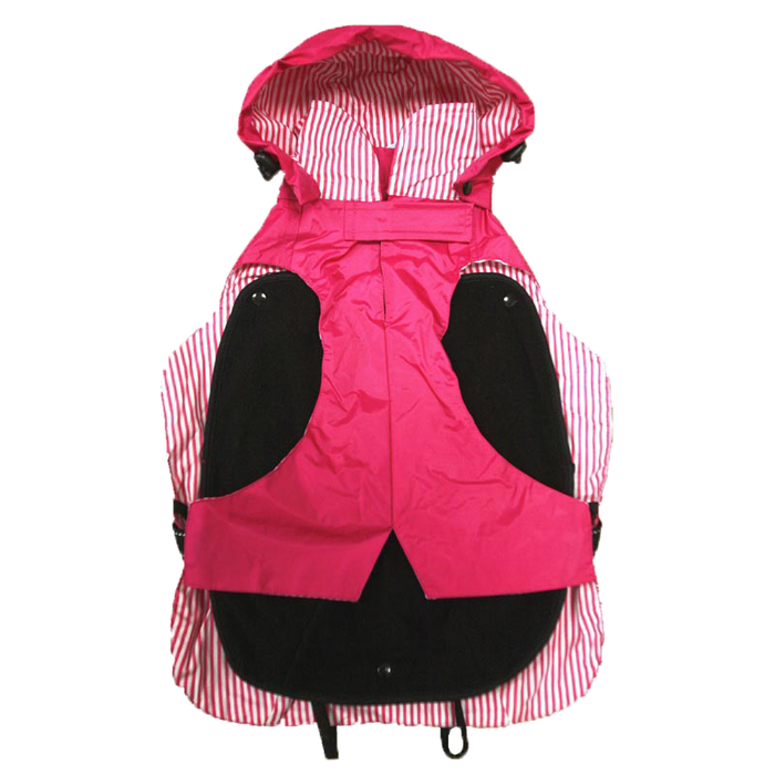 "One for Pets - All-Weather Dog Coat with Removable Fleece - Pink (24"") - PetProject.HK"
