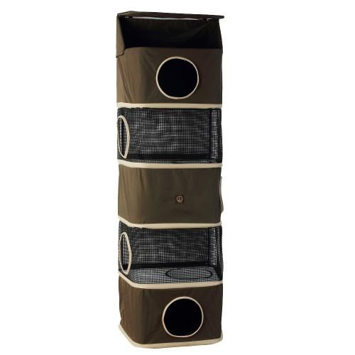 One for Pets - All-in-One Portable Cat Activity Tower - 5 Storeys - Olive