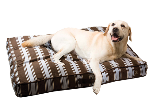 "One for Pets - Classic Pillow Bed - Blue/Brown - 27"" x 36"" x 5"""