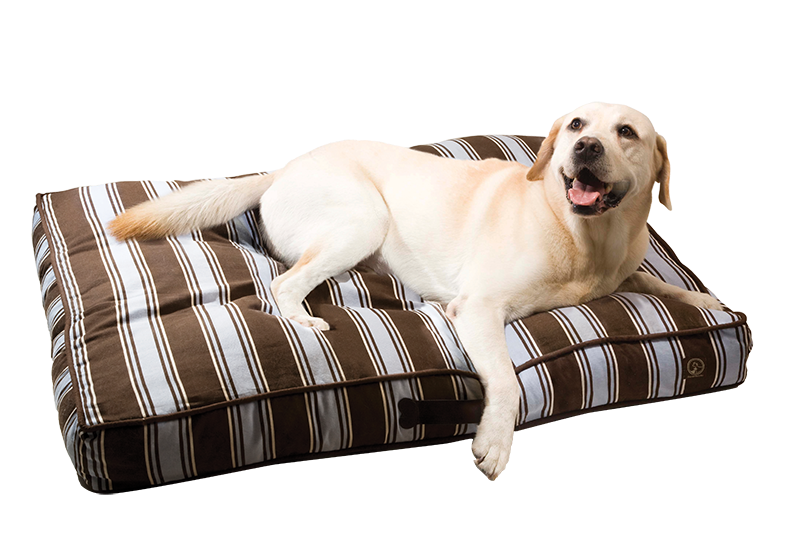 "One for Pets - Classic Pillow Bed - Blue/Brown - 27"" x 36"" x 5"" - PetProject.HK"