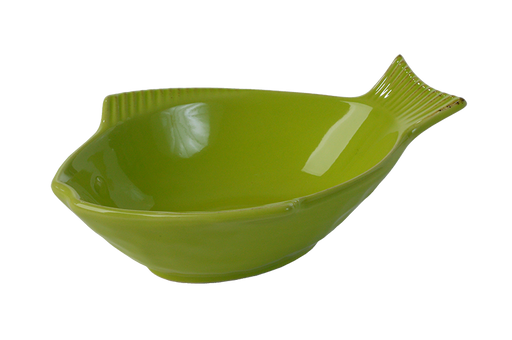 One for Pets - Fish Shaped Bowl - Green - 5.5""