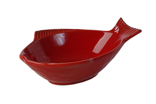 One for Pets - Fish Shaped Bowl - Red - 7""
