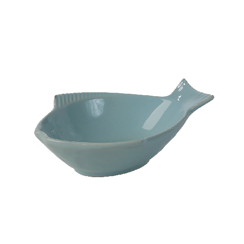 One for Pets - Fish Shaped Bowl - Sky Blue - 7""