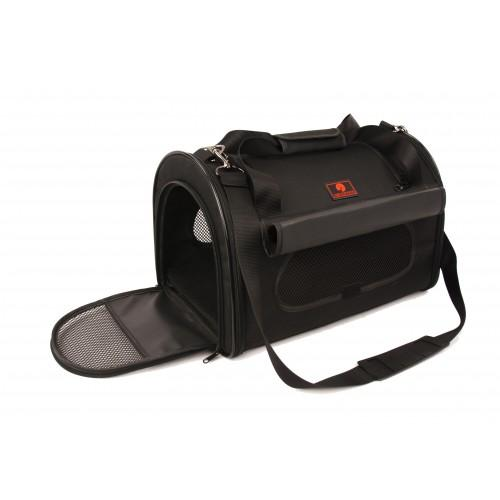 "One for Pets - Folding Carrier - Dome - Black - 17.5"" x 11.5"" x 11.5""(L) - PetProject.HK"
