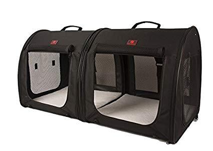 One for Pets - Folding Fabric Kennel - Black - Double