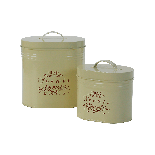 "One for Pets - Pet Food Canisters - Cream - 6"" x 4.5"" x 6""(S) - PetProject.HK"