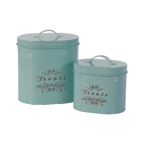 "One for Pets - Pet Food Canisters - Light Blue - 7.25"" x 5.25"" x 8.5""(L) - PetProject.HK"