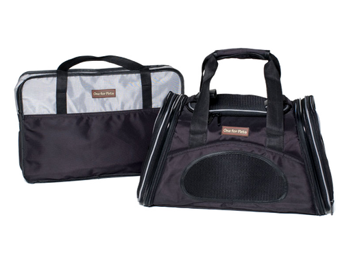 "One for Pets - The One Expandable Bag - Black - 19"" x 11.5"" x 11.5"""