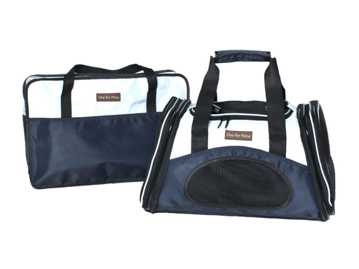"One for Pets - The One Expandable Bag - Navy - 16"" x 9"" x 9"""