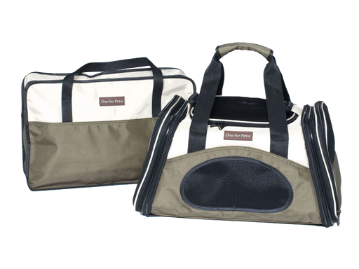 "One for Pets - The One Expandable Bag - Olive - 16"" x 9"" x 9"""