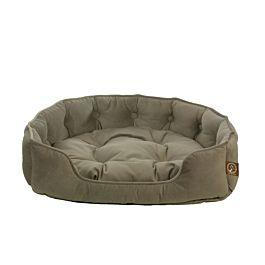 "One for Pets - Faux Suede Snuggle Bed - Taupe - 21"" x 18"" x 5""(S) - PetProject.HK"