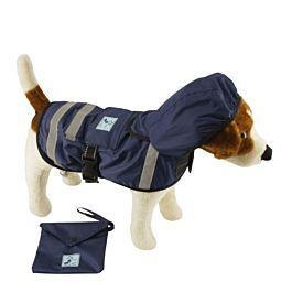 PetProject.HK: One for Pets Safety Hooded 12 Inch Raincoats Dark Blue 12""
