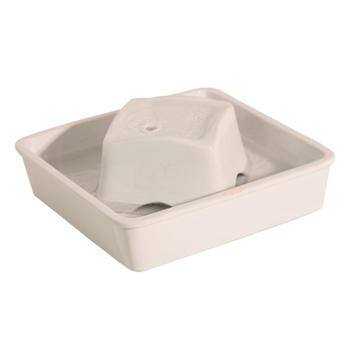 Pioneer Pet - Drinking Fountain - Ceramic - Peaceful Waters - White - 60OZ - PetProject.HK