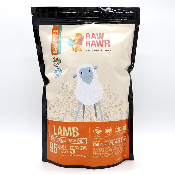 Raw Rawr - Freeze Dried Dog Food - Lamb - 400G