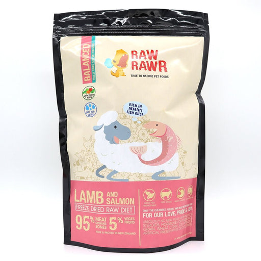 Raw Rawr - Freeze Dried Dog Food - Lamb & Salmon - 1.2KG
