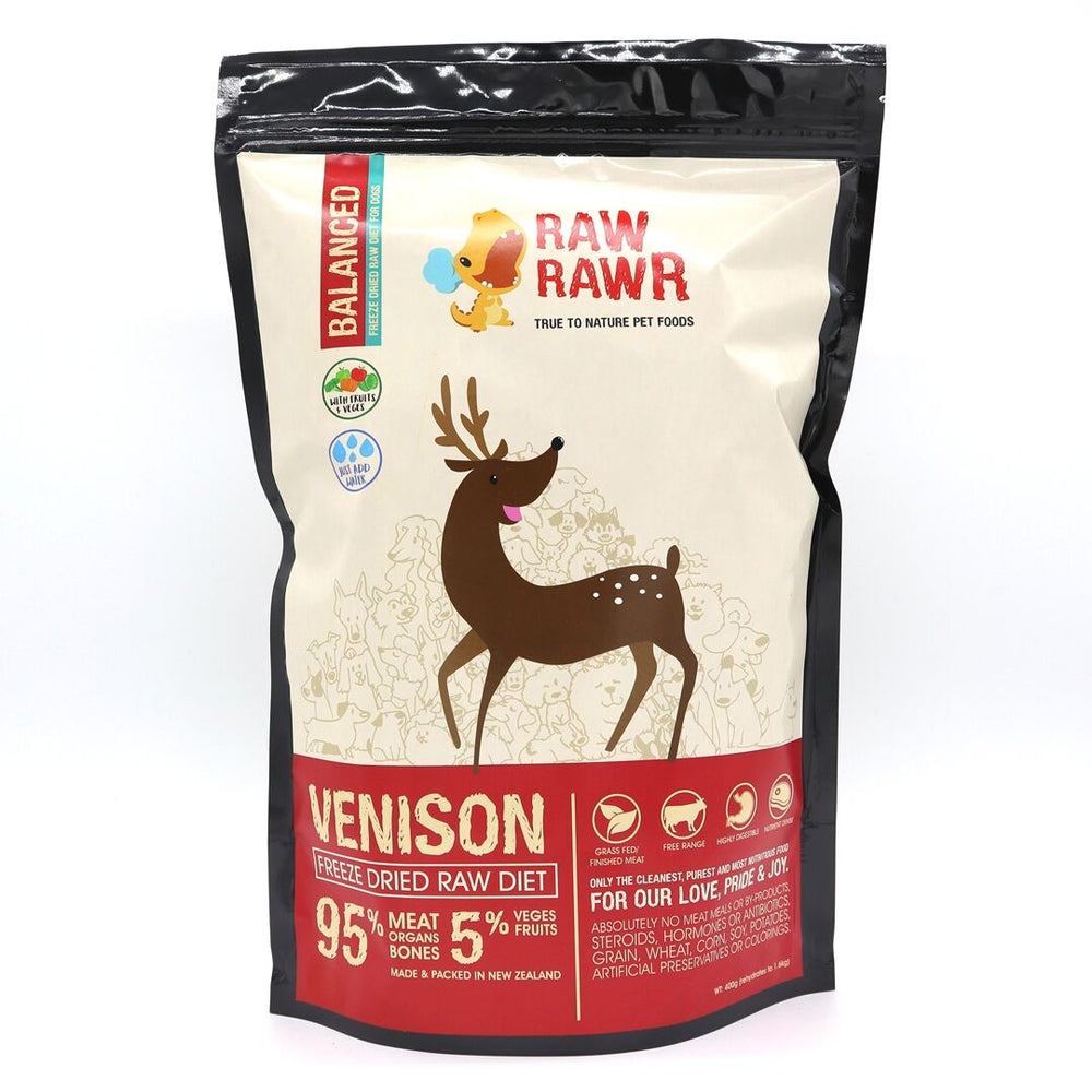 Raw Rawr - Freeze Dried Dog Food - Venison - 1.2KG