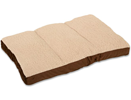 Smartcat - Crate Mat Bed (Brown Base, Cream Top)
