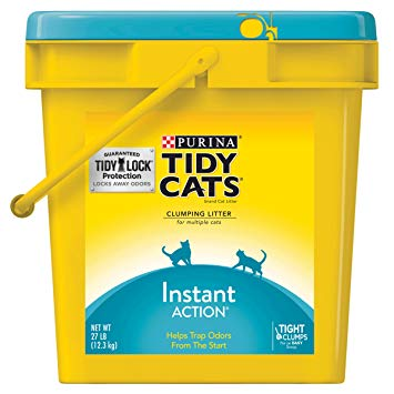 Purina - Tidy Cats - Clumping Cat Litter - Instant Action Immediate Odor Control - 27LB