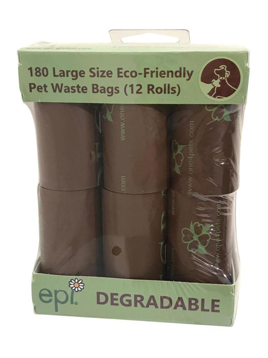 One for Pets - Waste Bags - 12-Roll Pack - Brown