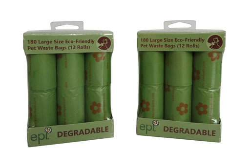 One for Pets - Waste Bags - 12-Roll Pack - Green