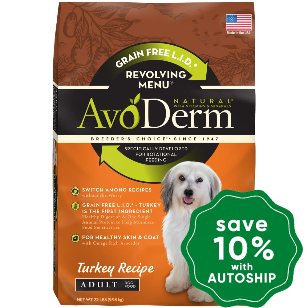 AvoDerm - Revolving Menu - Turkey - 22LB - PetProject.HK