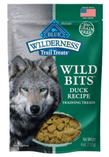 BLUE Wilderness - Grain Free Trail Treats Wild Bits - Duck - 4OZ
