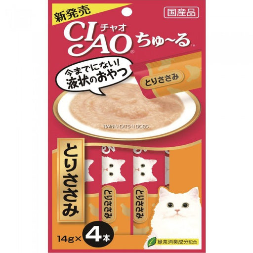 CIAO - Churu Cat Treat - Chicken Paste - 4 X 14G (6 Packs)