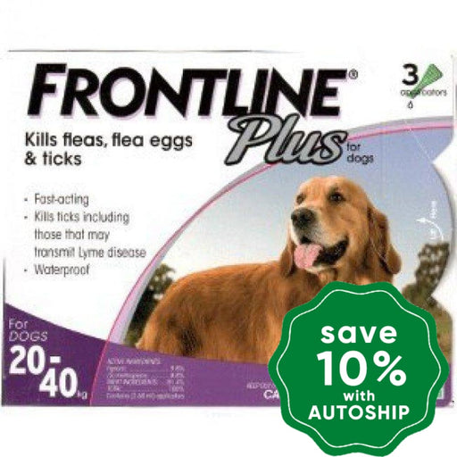 Frontline - Plus for Large Dogs - 20KG to 40KG - 3PACK - PetProject.HK