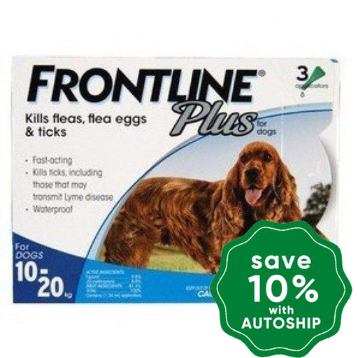 Frontline - Plus for Medium Dogs - 10KG to 20KG - 3PACK - PetProject.HK