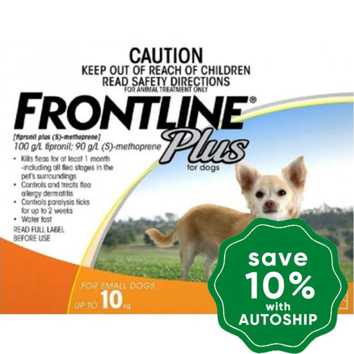 Frontline - Plus for Small Dogs - Up to 10KG - 3PACK - PetProject.HK