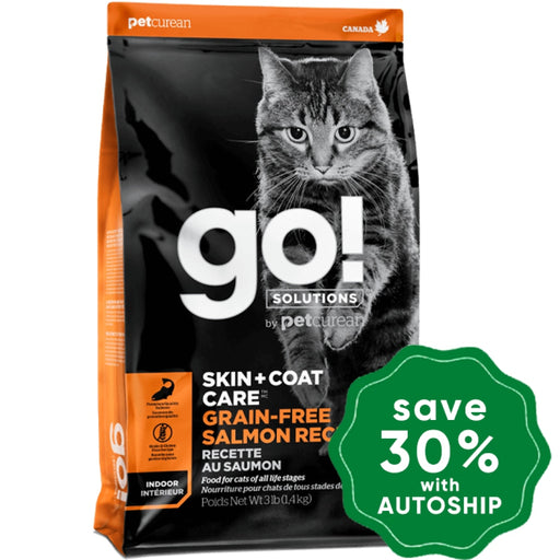 GO! - GO! SOLUTIONS - SKIN + COAT CARE Dry Food for Cat - Grain Free Salmon Recipe - 8LB