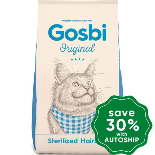 Gosbi - Dry Food For Adult Cats Original Sterilized Hairball Recipe 7Kg