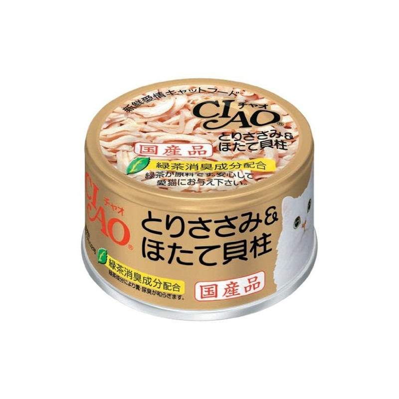 CIAO - Cat Canned Food - Chicken Fillet and Scallop - 85G (24 Cans)