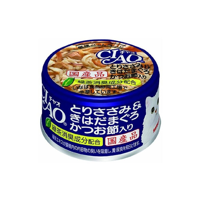 CIAO - Cat Canned Food - Chicken Fillet and Yellowfin Tuna with Skipjack Tuna - 85G (24 Cans)