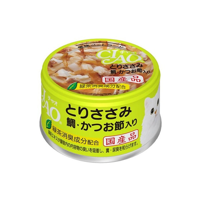 CIAO - Cat Canned Food - Chicken Fillet and Seabream with Skipjack Tuna - 85G (24 Cans)