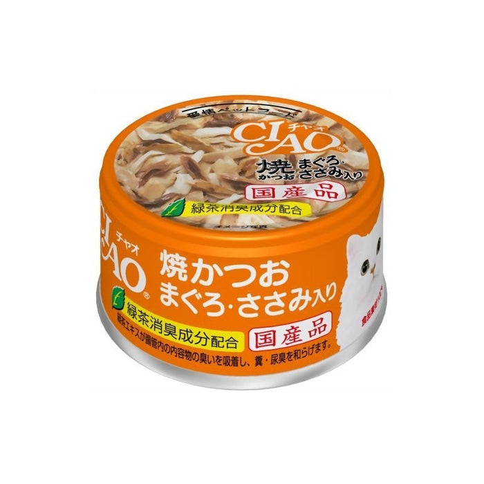 CIAO - Cat Canned Food - Grilled Bonito and Tuna with Chicken Fillet - 85G