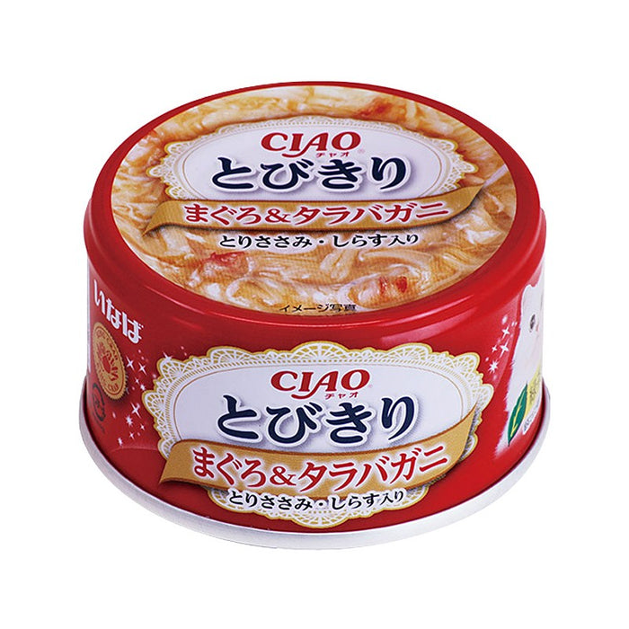 CIAO - Cat Canned Food - Premium Tuna and King Crab with Whitebait - 80G