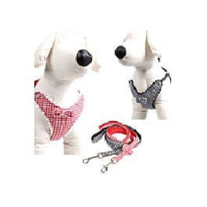 Lovabledog - Houndstooth Leash & Harness with Padding - PetProject.HK