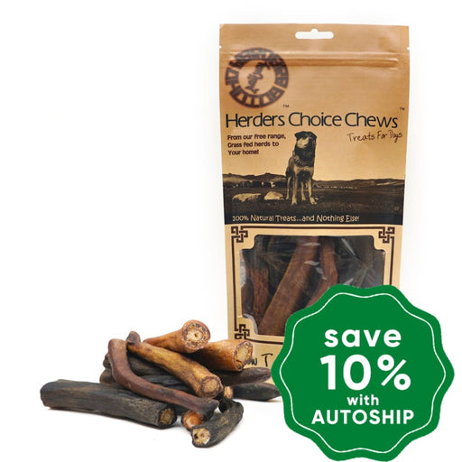Mongolian Chews - Treat for Dogs - Herders Choice Chews - Dried Cow Tail Cut Small - 300G - PetProject.HK