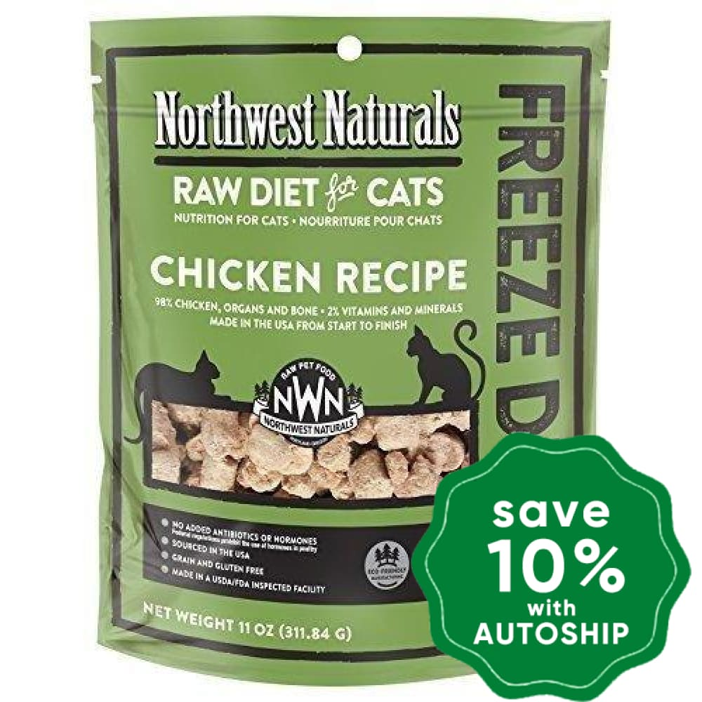 Northwest Naturals - Freeze-Dried Cat Food - Cat Nibbles Chicken Flavour - 311G - PetProject.HK